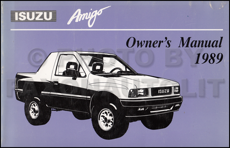 1989 Isuzu Amigo Owner's Manual Original