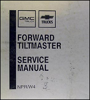 1989 NPR & W4 Truck Repair Manual Original Binder
