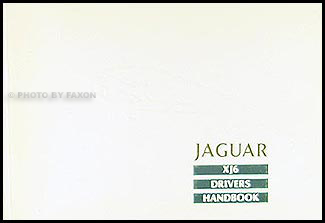 1989 Jaguar XJ6 Owner's Manual Original