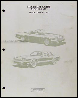 1989 Jaguar XJ-S Electrical Guide Wiring Diagram Original