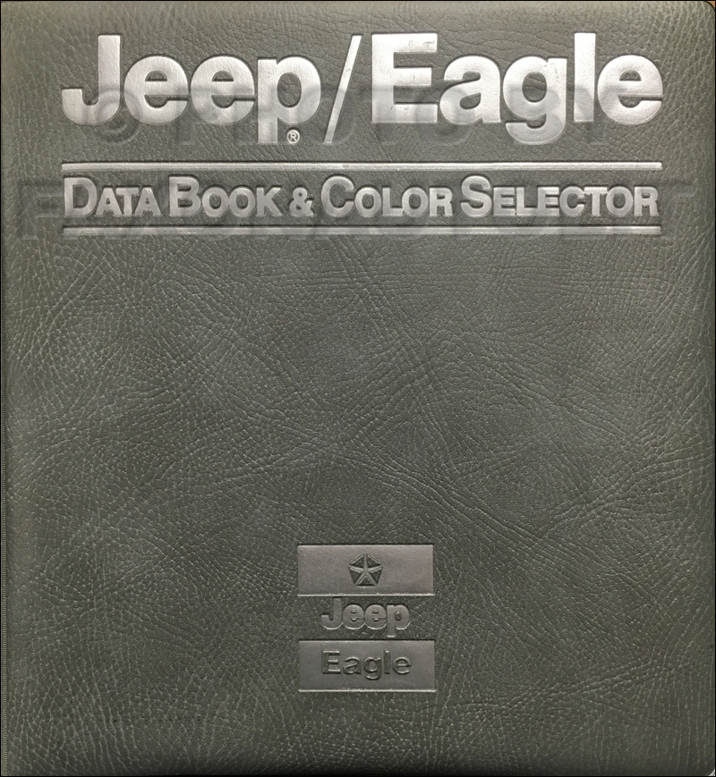 1989 Jeep and Eagle Color & Upholstery Album and Data Book Original