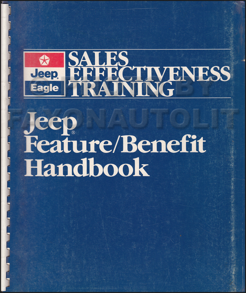 1989 Jeep Sales Training Feature/Benefit Handbook Original