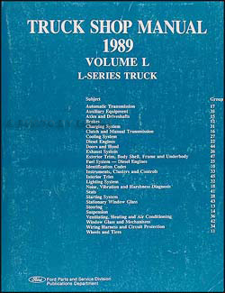 1989 Ford L-Series Truck 8000 & 9000 Repair Manual Original