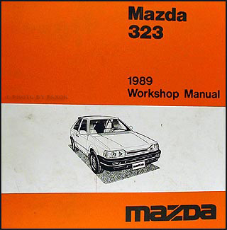 1989 Mazda 323 Repair Manual Original