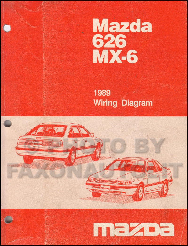 1989 Mazda 626 and MX-6 Wiring Diagram Manual Original