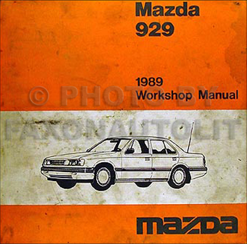 1989 Mazda 929 Repair Manual Original