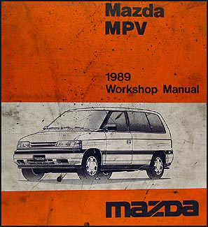 1989 Mazda MPV Repair Manual Original