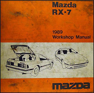 1989 Mazda RX-7 Repair Shop Manual Original