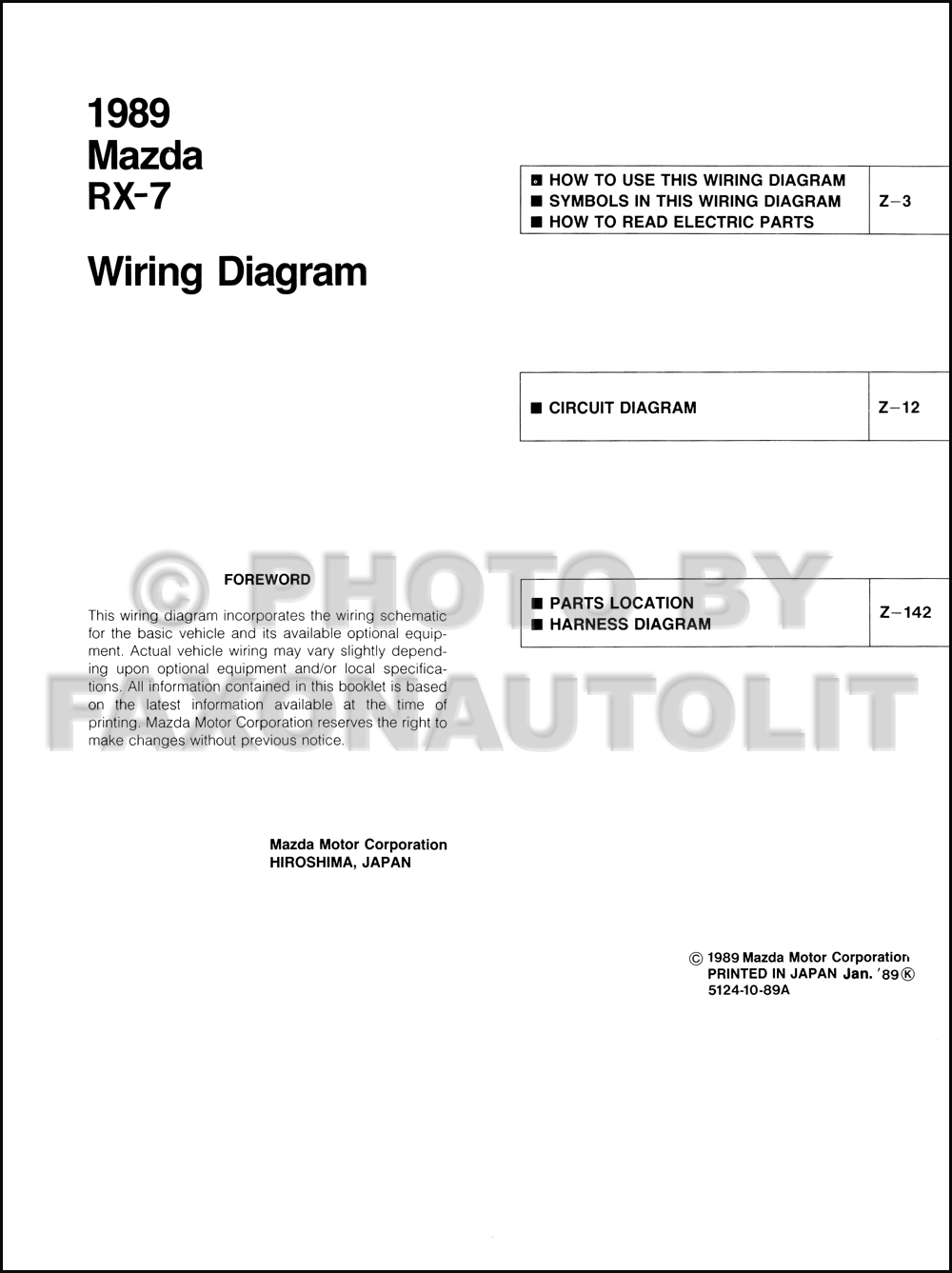 1989 Mazda Rx 7 Wiring Diagram Manual Original Rx7 Diagrams Click On Thumbnail To Zoom