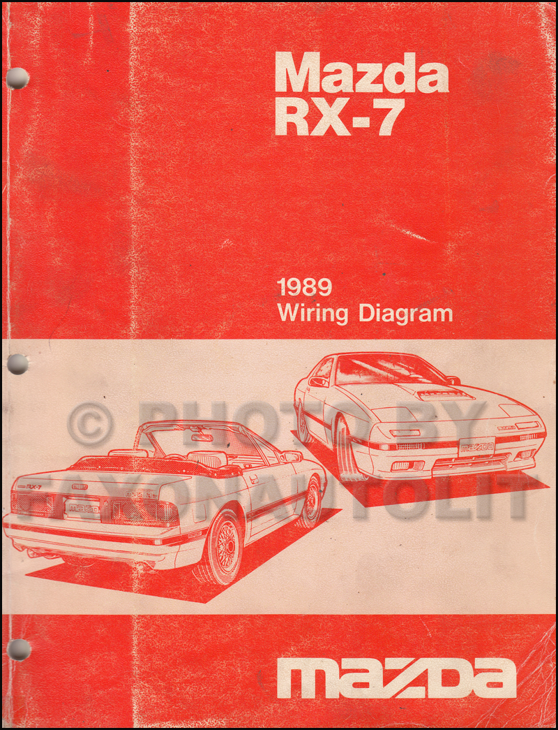 1989 Mazda RX-7 Wiring Diagram Manual Original RX7
