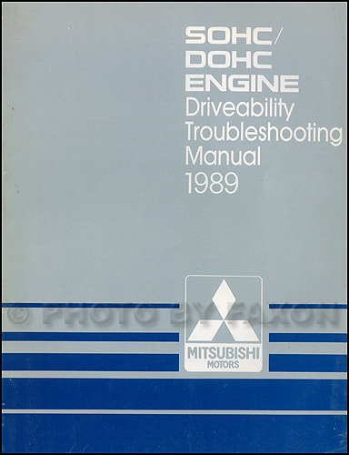 1989 Mitsubishi SOHC/DOHC Driveability Troubleshooting Manual Original