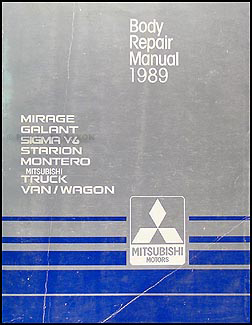 1989 Mitsubsihi Body Manual Original