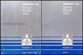 1989 Mitsubishi Sigma V6 Repair Manual Set Original