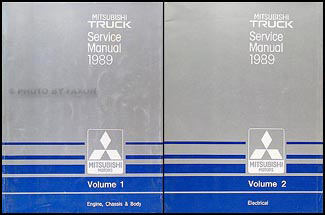 1989 Mitsubishi Truck Repair Manual Set Original
