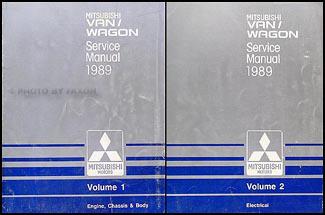 1989 Mitsubishi Van & Wagon Repair Manual 2 Volume Set Original