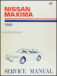 1989 Nissan Maxima Repair Manual Original
