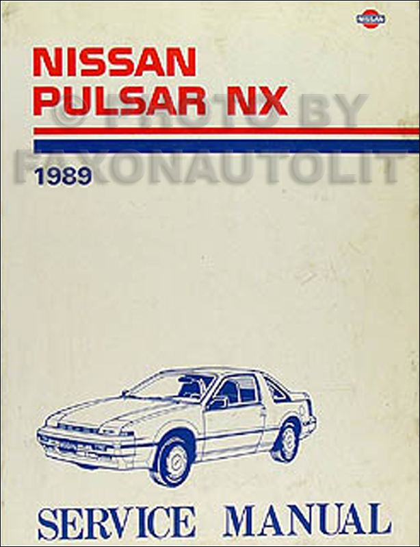 1989 Nissan Pulsar NX Repair Manual Original