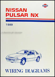1989 Nissan Pulsar NX Wiring Diagram Manual Original
