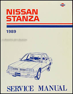 1989 Nissan Stanza Repair Manual Original