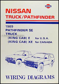 1989 nissan truck and pathfinder wiring diagram manual original  1989 nissan truck and pathfinder wiring diagram manual original #1