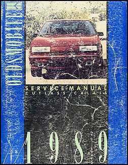 1989 Oldsmobile Cutlass Calais Shop Manual Original