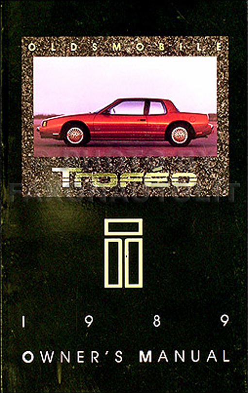 1989 Oldsmobile Troféo Owner's Manual Original