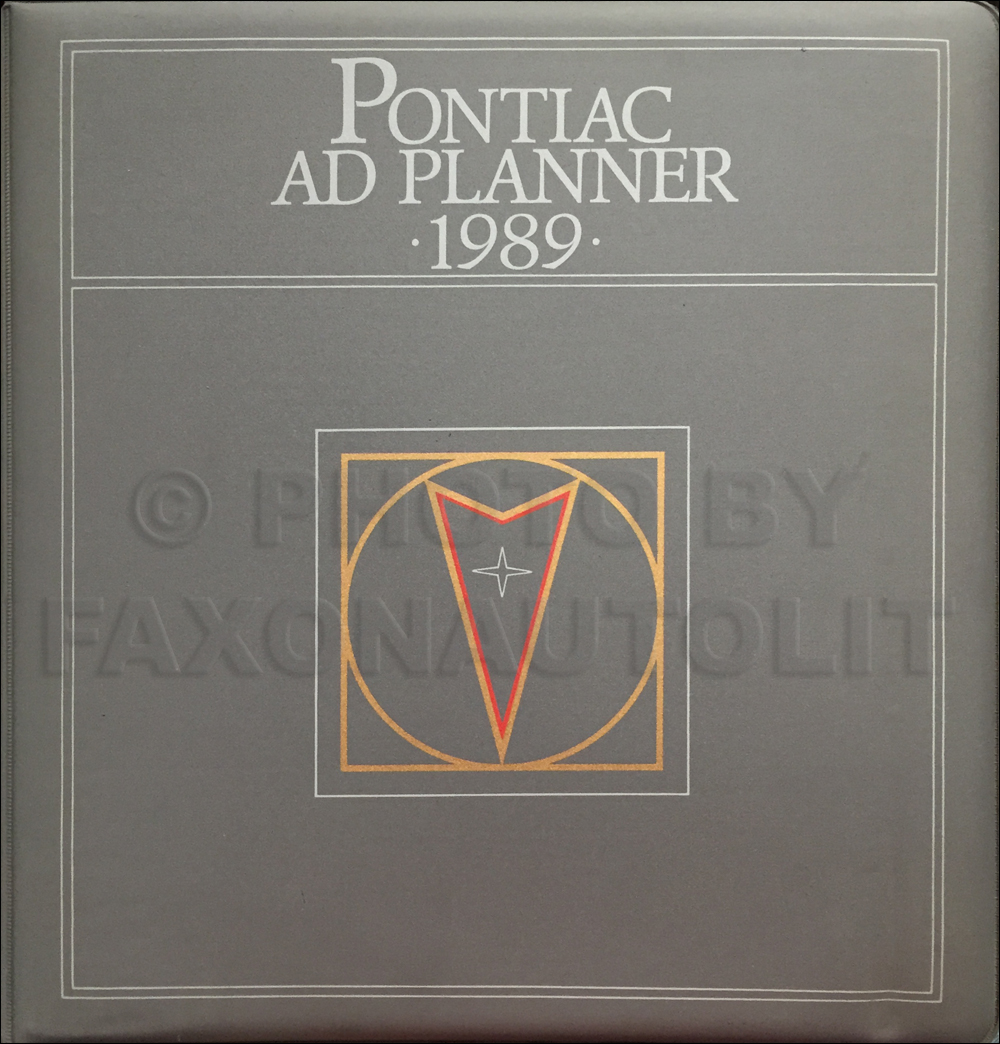 1989 Pontiac Dealer Advertising Planner Original