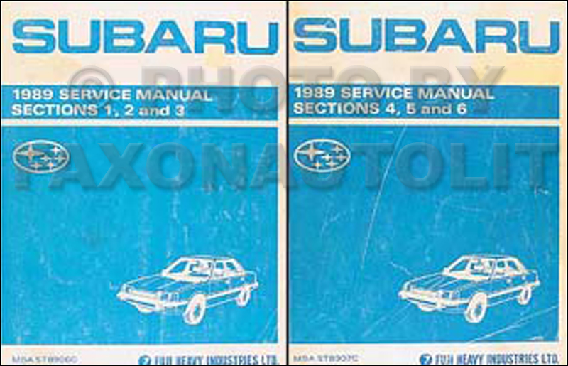 1989 Subaru DL & GL Repair Manual Set Original