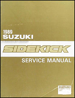 1989 Suzuki Sidekick Repair Manual Original