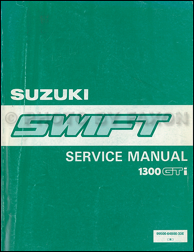 1990 Suzuki Swift 1300 Repair Shop Manual Supplement