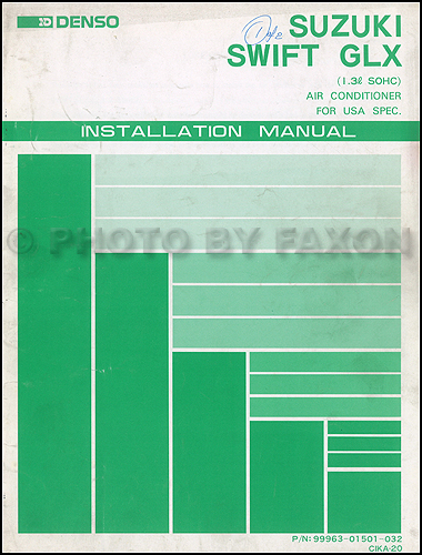 1989 Suzuki Swift GLX A/C Installation Manual Original