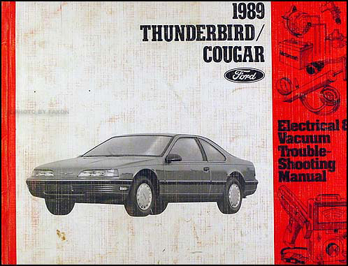 1989 Ford Thunderbird Mercury Cougar Electrical Troubleshooting Manual
