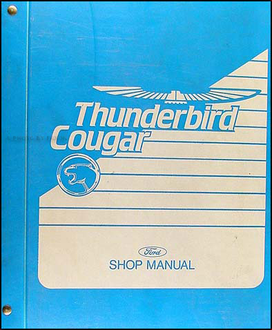 1989 Ford Thunderbird and Mercury Cougar Shop Manual Original