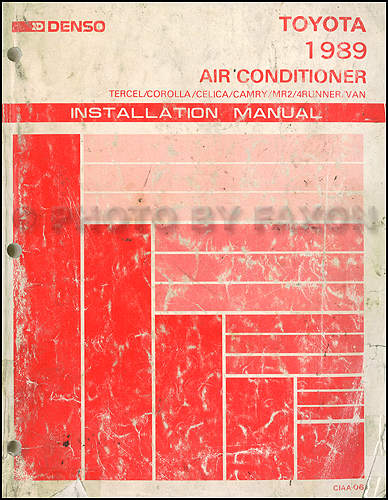 1989 Toyota Air Conditioner Installation Manual Original