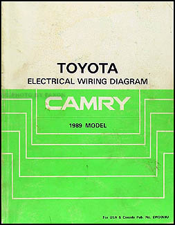 1989 toyota camry wiring diagram manual original  faxon auto literature
