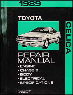 1989 Toyota Celica Repair Manual Original