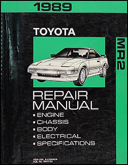 1989 Toyota MR2 Repair Manual Original