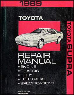 1989 Toyota Supra Repair Manual Original