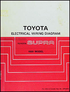 1989 Toyota Supra Wiring Diagram Manual OriginalFaxon Auto Literature
