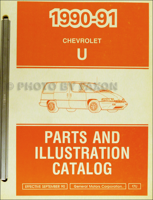 1990-1991 Chevrolet Lumina APV Parts Book Original