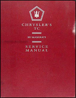 1990-1991 Chrysler TC Repair Manual Original