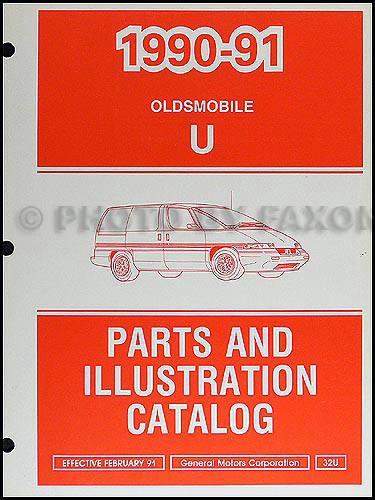 1990-91 Oldsmobile Silhouette Parts Book Original