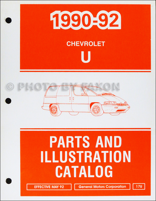 1990-1992 Chevrolet Lumina APV Parts Book Original
