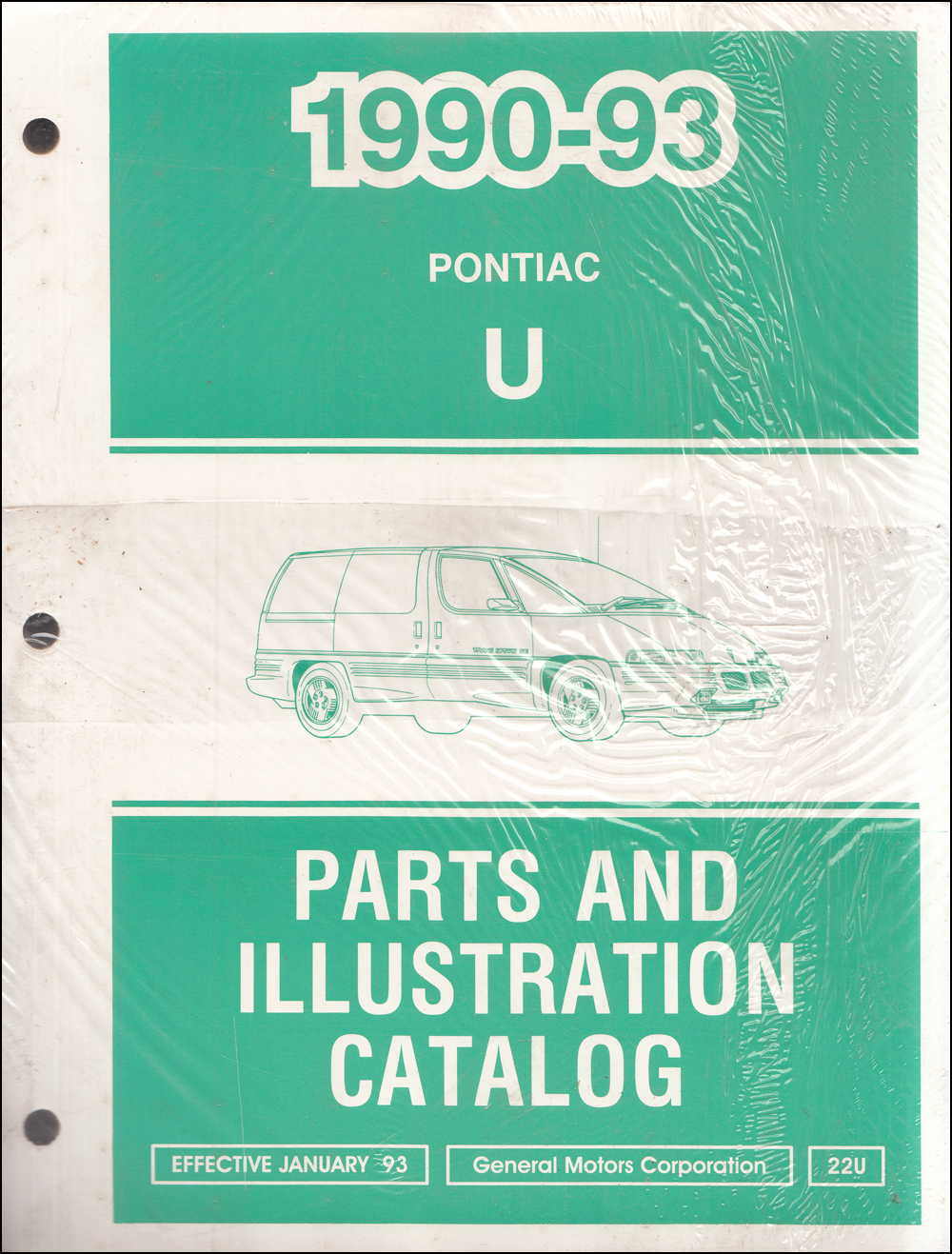 1990-1993 Pontiac Trans Sport Parts Book Original