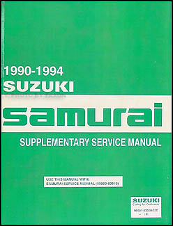 1990-1995 Suzuki Samurai Repair Manual Supplement Original