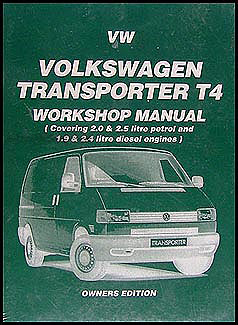 1990-1995 VW Transporter Eurovan Bus Repair Manual