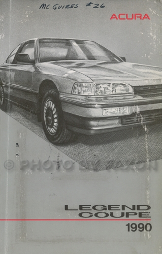 1990 Acura Legend Coupe Owners Manual Original