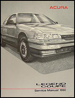 1990 Acura Legend Coupe Shop Manual Original