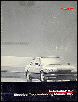 1990 Acura Legend 4 Door Sedan Electrical Troubleshooting Manual Original