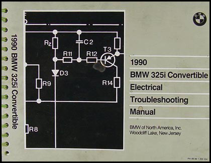 1990 BMW 325i Convertible Electrical Troubleshooting Manual Original